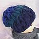 Шапки ручной работы. Ярмарка Мастеров - ручная работа. Купить шапка вязаная. Handmade. Вязаная шапка, синяя шапка