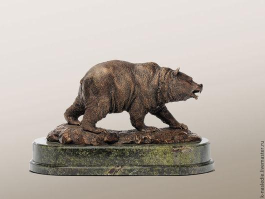 Статуэтки ручной работы. Ярмарка Мастеров - ручная работа. Купить Статуэтка Медведь (бронзовая статуэтка медведя, коричневый). Handmade. Бронза