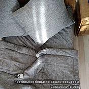 "Для дома и интерьера handmade. Livemaster - original item Linen bed linen ""bleck"" (100% linen). Handmade."