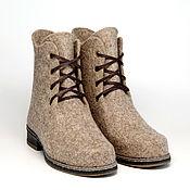 """Обувь ручной работы. Ярмарка Мастеров - ручная работа Валяные ботинки """"Дыхание города"""". Handmade."""