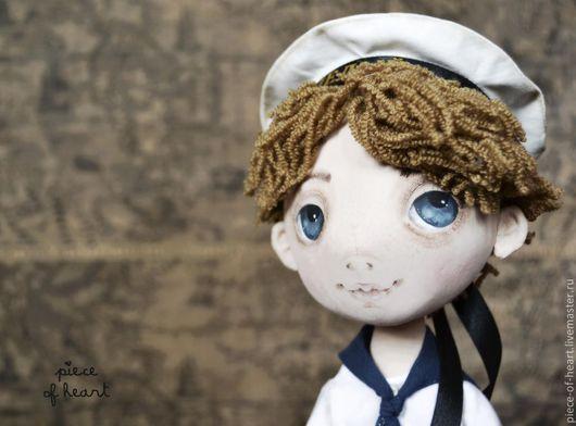Ароматизированные куклы ручной работы. Ярмарка Мастеров - ручная работа. Купить когда я вырасту.... Handmade. Интерьерная кукла, моряк, белый