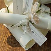 Свадебный салон ручной работы. Ярмарка Мастеров - ручная работа Приглашения на свадьбу с цветами из фоамирана. Handmade.