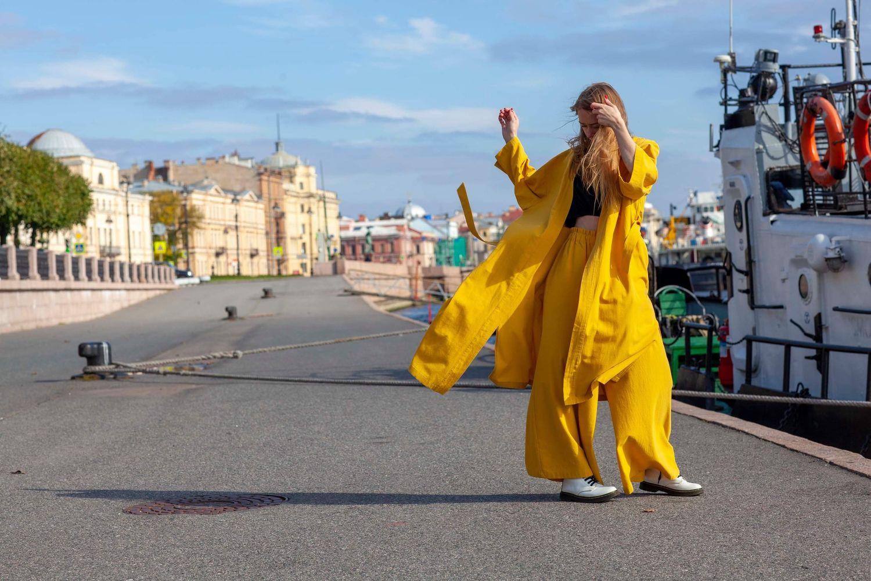 Костюм горчичный 100 % хлопок, Костюмы, Санкт-Петербург,  Фото №1
