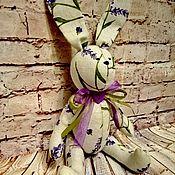 """Мягкие игрушки ручной работы. Ярмарка Мастеров - ручная работа Льняной Зайка """"Лавандовый"""". Handmade."""