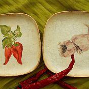 """Посуда ручной работы. Ярмарка Мастеров - ручная работа Набор настенных тарелок"""" Пряно-жгучие"""". Handmade."""