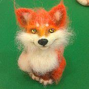 Куклы и игрушки ручной работы. Ярмарка Мастеров - ручная работа Лисёнок валяный. Рыжий, честный, влюбленный.. Handmade.