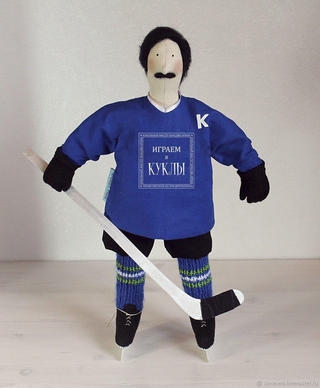 "Кукла по фото ""Хоккеист"", Портретная кукла, Зеленоград,  Фото №1"