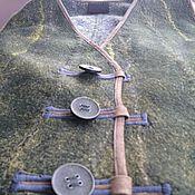 Одежда ручной работы. Ярмарка Мастеров - ручная работа жилет валяный зеленый. Handmade.