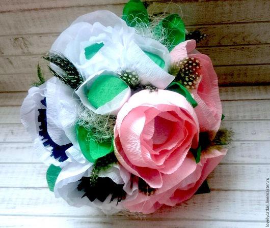 """Персональные подарки ручной работы. Ярмарка Мастеров - ручная работа. Купить Букет из конфет """"Вкусные цветы"""". Handmade. Комбинированный"""