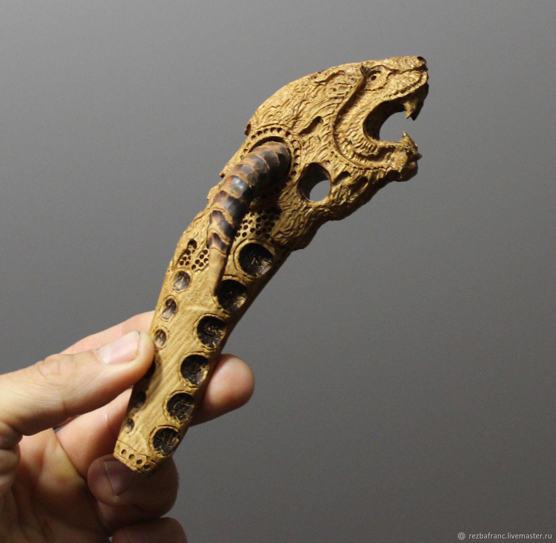 Гадания ручной работы. Ярмарка Мастеров - ручная работа. Купить Свистулька Дракон-викинг  (дуб).д2. Handmade. Дракон, скандинавия