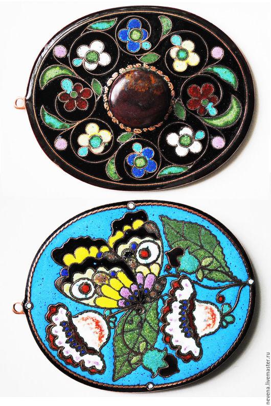 Подвески ручной работы. Ярмарка Мастеров - ручная работа. Купить Бабочка. Handmade. Настенное украшение, с натуральным камнем, двухстороннее