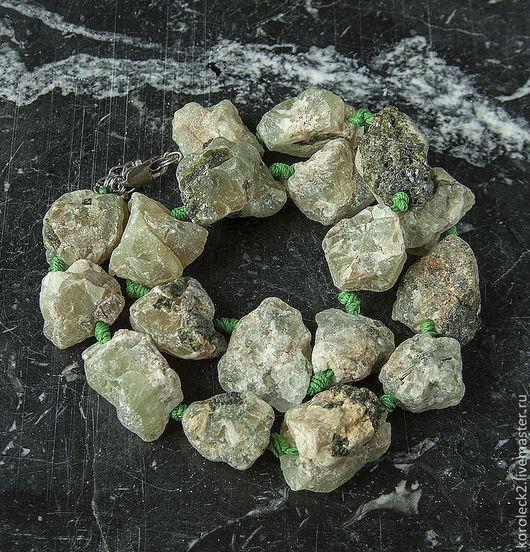 Для украшений ручной работы. Ярмарка Мастеров - ручная работа. Купить Бусины-кристаллы из необработанного пренита. Handmade. Прозрачный, кристаллы