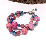 Украшения handmade. Livemaster - original item Buy Pink Haze bracelet pink bracelet with stones. Handmade.