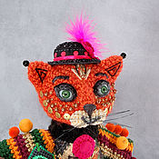 Для дома и интерьера handmade. Livemaster - original item Toys: Kitty `Yvette` - wool fashionista.. Handmade.