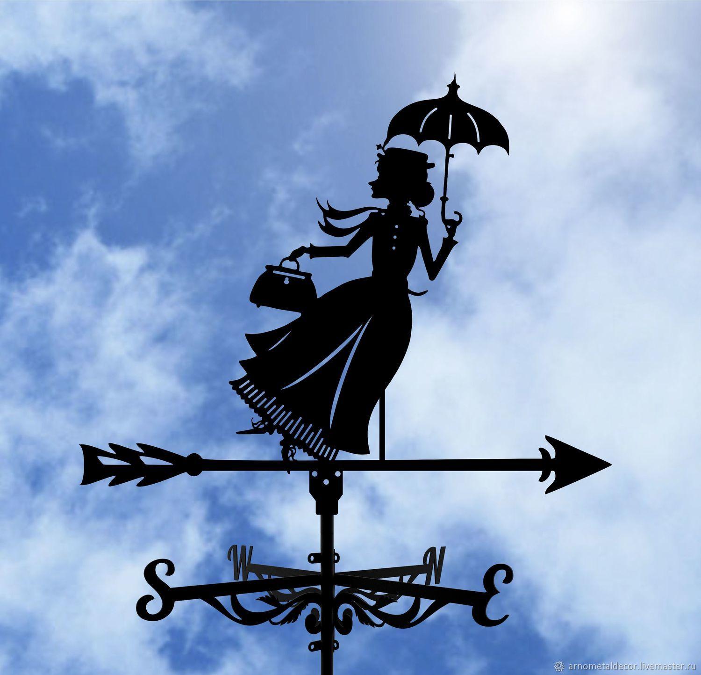 Weather vane on the roof 'Old Lady shapoklyak', Vane, Ivanovo,  Фото №1
