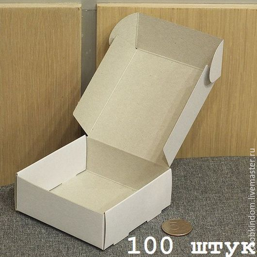 Упаковка ручной работы. Ярмарка Мастеров - ручная работа. Купить 100 штук - коробка 9х9х3,5 белая. Handmade. Коробочка