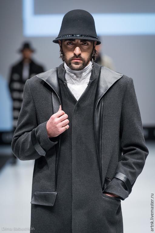 Верхняя одежда ручной работы. Ярмарка Мастеров - ручная работа. Купить Мужское пальто. Handmade. Темно-серый, пальто, поливискоза