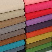 Материалы для творчества ручной работы. Ярмарка Мастеров - ручная работа Льняная ткань, 20 цветов. Handmade.