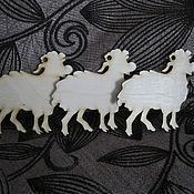 Материалы для творчества ручной работы. Ярмарка Мастеров - ручная работа АР 000151 Овечка подвеска. Handmade.