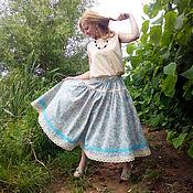 Одежда ручной работы. Ярмарка Мастеров - ручная работа Юбка льняная в стиле бохо. Handmade.
