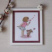 Картины и панно ручной работы. Ярмарка Мастеров - ручная работа Малышка Белль. Handmade.
