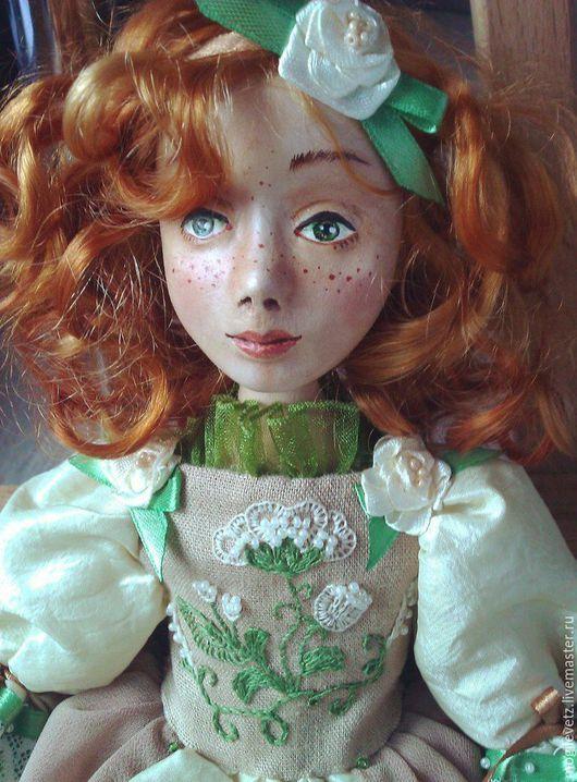 Коллекционные куклы ручной работы. Ярмарка Мастеров - ручная работа. Купить Злата. Handmade. Зеленый, кукла ручной работы, Паперклей