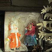 Куклы и игрушки ручной работы. Ярмарка Мастеров - ручная работа Таня да Маня набор ватных елочных игрушек. Handmade.