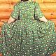 """Большие размеры ручной работы. Заказать Платье большого размера длинное с рукавом по локоть """"Луг"""". OLGA'Z. Ярмарка Мастеров."""