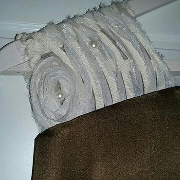 Одежда ручной работы. Ярмарка Мастеров - ручная работа 100% Шелковое винтажное платье под пояс. Handmade.