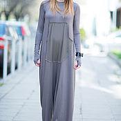 Одежда handmade. Livemaster - original item Summer dark grey jumpsuit made of cotton - JP0400TR. Handmade.