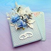 Открытки handmade. Livemaster - original item The card is voluminous with a pocket for money. Handmade.