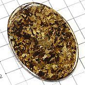 Бронзит кабошон натуральный камень