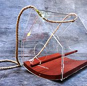 Дача и сад handmade. Livemaster - original item Bird feeder wood and clear acrylic Ark tent. Handmade.