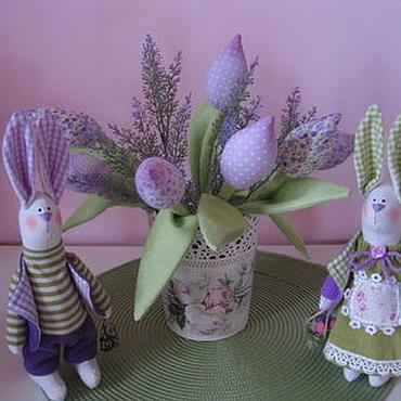 Куклы и игрушки ручной работы. Ярмарка Мастеров - ручная работа Тюльпаны в стиле Прованс. Handmade.