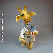 Куклы и игрушки ручной работы. Ярмарка Мастеров - ручная работа Авторская игрушка из шерсти - жирафик Кили. Handmade.