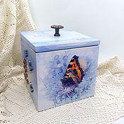 Для дома и интерьера handmade. Livemaster - original item Storage box Butterfly. Handmade.