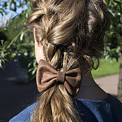 Украшения handmade. Livemaster - original item Leather barrette for hair