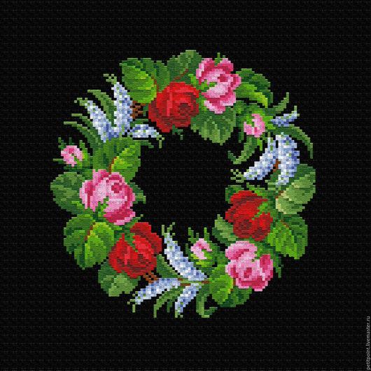 Вышивка ручной работы. Ярмарка Мастеров - ручная работа. Купить ВЕНОЧКИ. Рисунок № 7.3. Handmade. Цветы