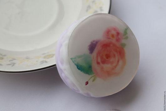 Мыло ручной работы. Ярмарка Мастеров - ручная работа. Купить Мыло с цветами 2. Handmade. Белый, мыло ручной работы