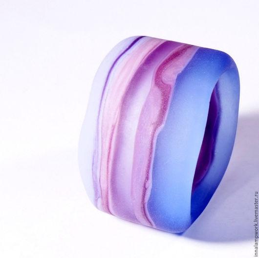 Кольца ручной работы. Ярмарка Мастеров - ручная работа. Купить Пастель №1. Handmade. Голубой, кольцо для платка, авторские украшения