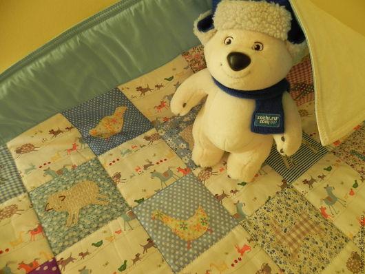 Для новорожденных, ручной работы. Ярмарка Мастеров - ручная работа. Купить Детское лоскутное одеяло. Handmade. Комбинированный, хлопок 100%
