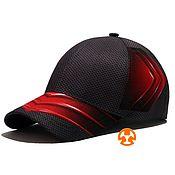 Аксессуары handmade. Livemaster - original item Citron Gray-Red Total Print Baseball Cap. Handmade.