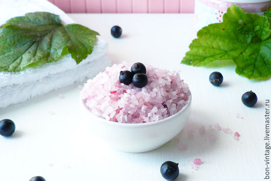 Соль для ванны ручной работы. Ярмарка Мастеров - ручная работа. Купить Смородина - соль для ванн. Handmade. Соль для ванн