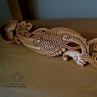 Посуда ручной работы. Ярмарка Мастеров - ручная работа Ложка любовная деревянная Морской конек. Handmade.