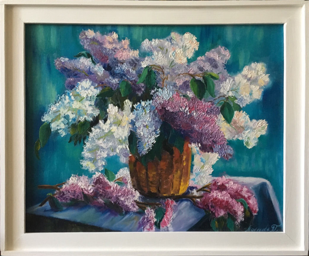 The picture with the lilacs. « The scent of lilacs' 40h60 cm, Pictures, Mytishchi,  Фото №1