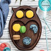 """Посуда handmade. Livemaster - original item Тарелка """"Совушка"""". Handmade."""