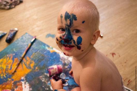 Абстракция ручной работы. Ярмарка Мастеров - ручная работа. Купить След. Handmade. Комбинированный, Дети-цветы жизни, творчество с детьми