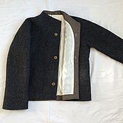 Одежда ручной работы. Ярмарка Мастеров - ручная работа Жакет Тёмный меланж. Handmade.
