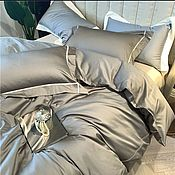 handmade. Livemaster - original item Premium satin bed Linen with decor. Handmade.