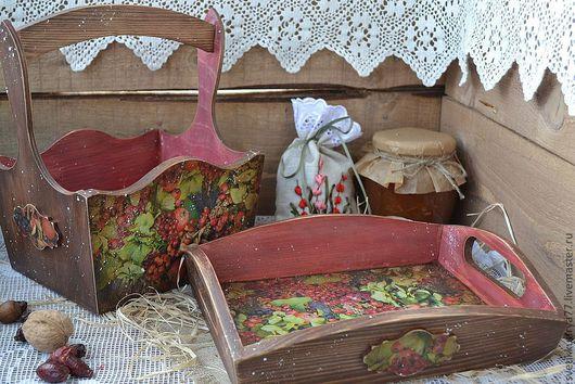 """Кухня ручной работы. Ярмарка Мастеров - ручная работа. Купить """"Ягодная карусель"""" набор для кухни. Handmade. Набор для кухни, короб"""